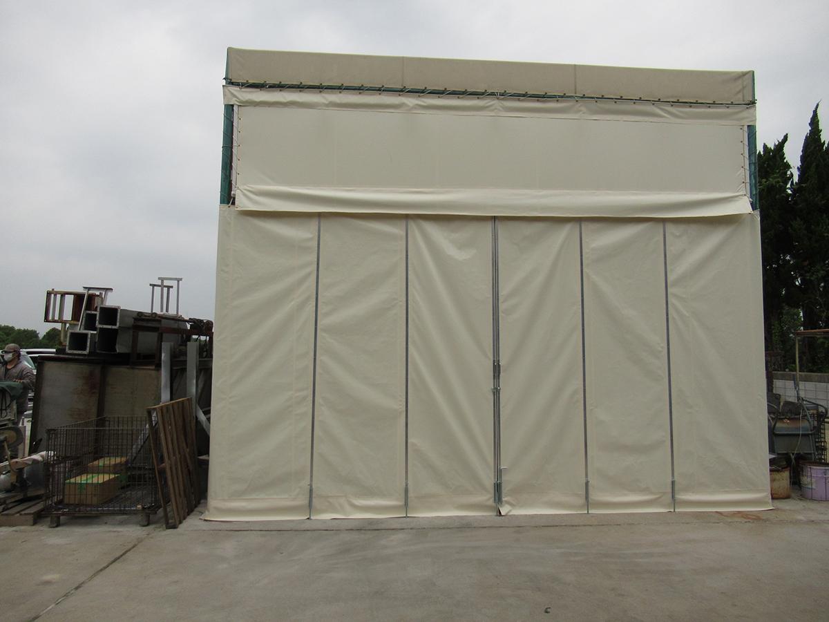 テント倉庫入口カーテン